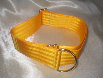Zugstopp, HAlsband, 4cm, Gurtband sonnengelb
