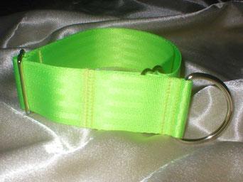 Zugstopp, Halsband, 4cm, Gurtband neongrün