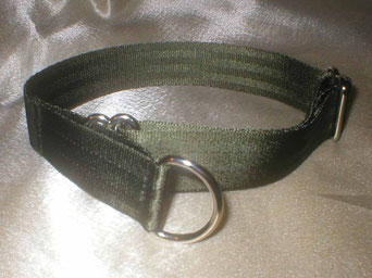 Zugstopp, Halsband, 2,5cm, Gurtband olivgrün
