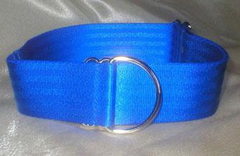 Zugstopp, Halsband, 4cm, Gurtband königsblau