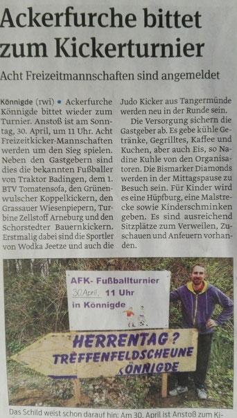 Volksstimme vom 27.04.2017, von Axel Junker