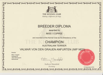 Breeder Diploma The Kennel Club