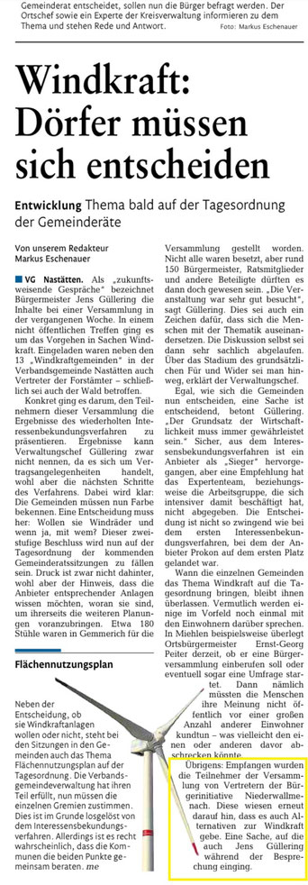 Rhein-Lahn-Zeitung vom 15.01.2015