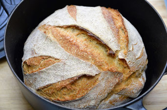 Brot backen ohne kneten - no knead bread