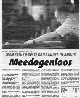 Leon Keulen beste driebander in Andijk