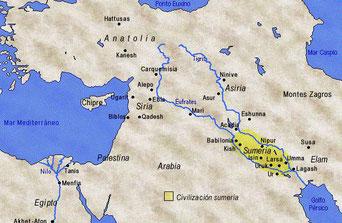 La Mésopotamie antique - Cliquer pour agrandir