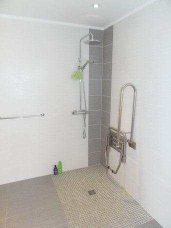 offener Duschbereich