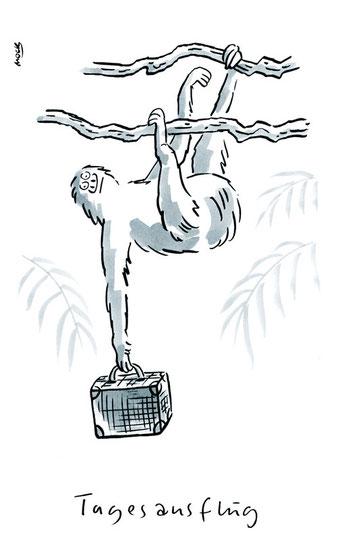 Cartoon von Mock zum Thema Reise