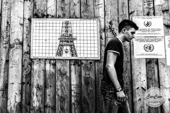 Paris, trocadero, euro, soccer, football,  black and white, noir et blanc, art, street photography, CarCam