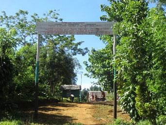 l'entrée du centre d'Amboditavolo
