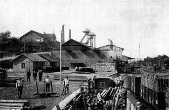bergbau, dudweiler, camphausen, saarland, grube camphausen, 1871