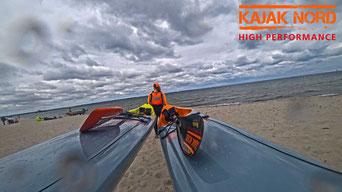 Testfahrt Training Vajda Surfski MAKAI 43_48_55, Kajak Nord