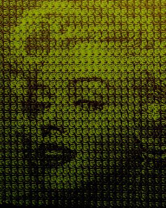 Kim Dong Yoo(キム・ドン・ヨー) マリリン・モンロー(ジョン・F・ケネディ)2016 キャンバスに油彩 撮影:筆者