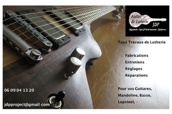 luthier Thibaud Mignon Epernay atelier lutherie JDP project