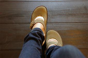 足のサイズが22.3cm・22.6cmの私でサイズ36インチです
