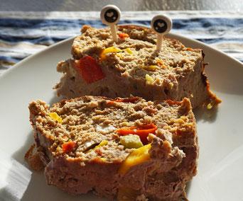 Fleichkäse mit Feta und Paprika