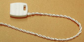 Marchamos Textiles Blanco 180mm cordón grueso