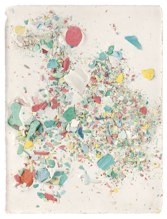Plaster Painting #2, 2015, pigmented plaster on plaster, 33x24cm  Foto: Anna Lott Donadel