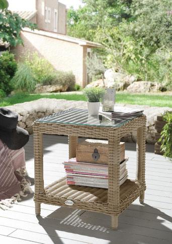 Tisch Gartentisch Beistelltisch Holz Polyrattan Kunststoff Edelstahl Aluminium Esstisch