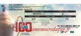 Ticket  PSG-Monaco  2016-17