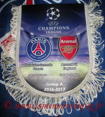 Fanion  PSG-Arsenal  2016-17 (grand format)