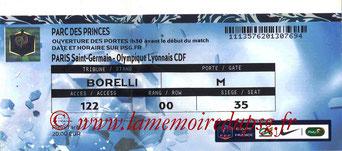 Ticket  PSG-Lyon  2015-16
