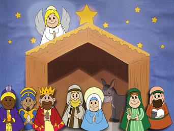 Am dritten Adventsonntag kommen Maria und Josef und noch zwei Könige im Stall dazu.