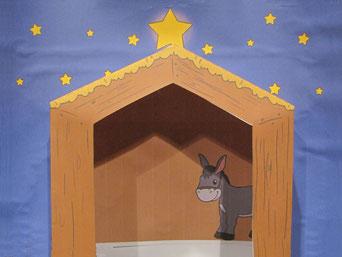 Am ersten Adventsonntag kommt der Esel in den Stall.