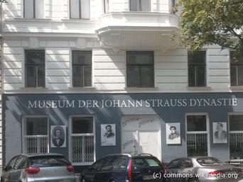 Die Schauräume des Strauss Museums führen durch die Geschichte der Strauss-Dynastie mit vielen  historischen Bildern und Dokumenten. Außerdem kann man an Audio-Stationen mit Kopfhörern erlesene Werke genießen.