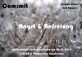 """Einladung zur com:mit Messe in Sandleiten mit dem Thema """"Angst & Befreiung"""""""