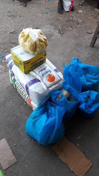 Lebensmittel wurden eingekauft