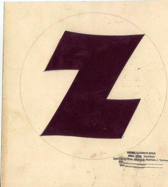 Zentralsparkasse Logo. Entwurf Heinz Traimer (vermutlich 1956).