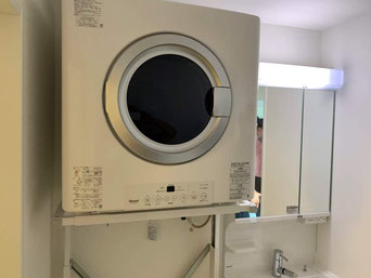 沖縄では、乾燥機が設備として付いています