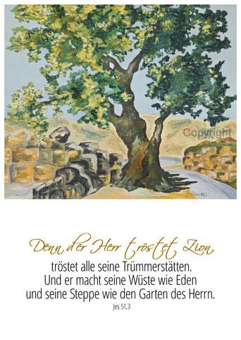 Wüste Baum Jesaja 51,3,Trümmer, trost