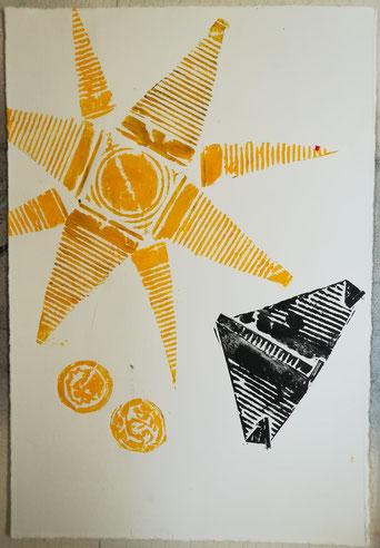 Dietmar Bous, Kunst, Druck, Radierungen, Oldenburg, Künstler, Holzschnitt, Bous, Dietmar