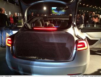 Hinterer Kofferraum Tesla Model 3