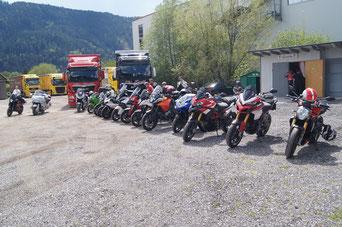 Motorräder der Mitglieder des MSV-Liezen