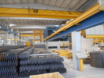 Used precast production tables