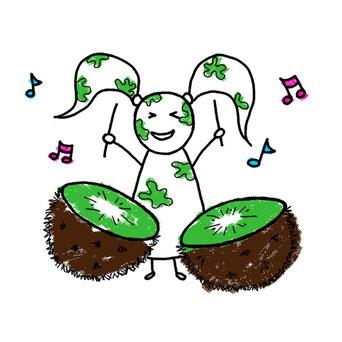 Beatrice Winkel - Trixilie's kiwi-drums