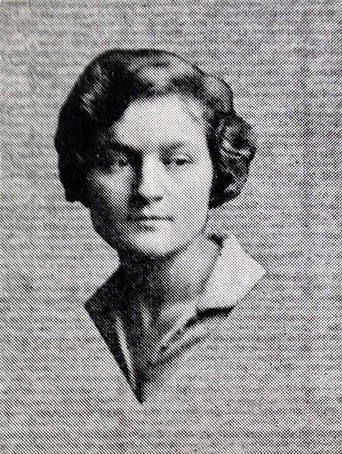"""AGNES BARON in the 1928 Antioch College yearbook """"Towers"""". - Photo courtsy of Meher Mount web site - Antioch College photo"""