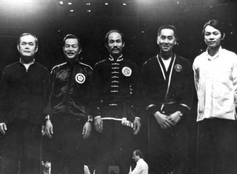 SIFU SHUM AT MASTER WAI HONG'S KUNG FU EXPO IN PUERTO RICO 1974