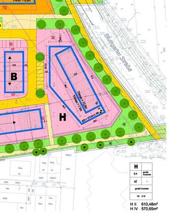 Plan Mehrgenerationenhaus Baugebiet Rück II Waldbronn