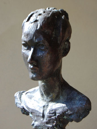 portret Esther in brons