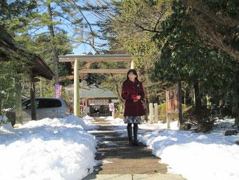 白石城に隣接する神明社