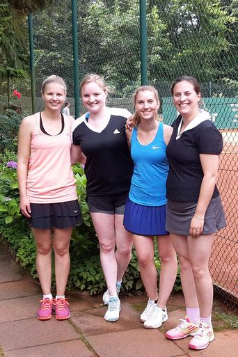 S.C. Sperber Tennis Damen Pokalmanschaft nach einem Sieg bei TEGA