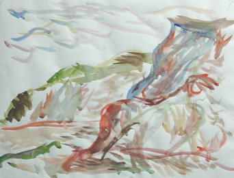 KREPTITZER  UFER  2011   farbige Tuschen und Aquarell auf  Papier
