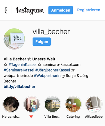 Instagram Villa Becher