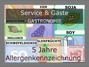 Allergene Kennzeichnung von Speisekarten