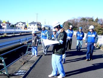 水道施設管路パトロール訓練