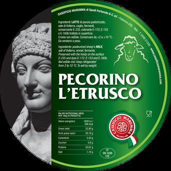 Pecorino Etrusco ist ein klassischer würziger Schafskäse